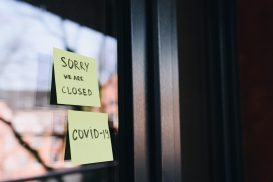 "Sign on door that reads ""Sorry We are Closed"""